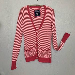 PINK Victoria's Secret striped boyfriend cardigan